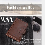 Genuine Leather Multi-Slot Anti-theft Wallet