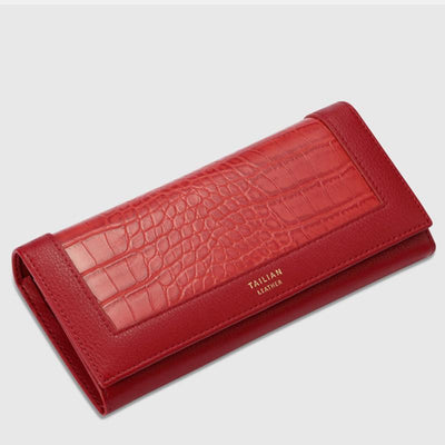 Crocodile pattern Long Purse