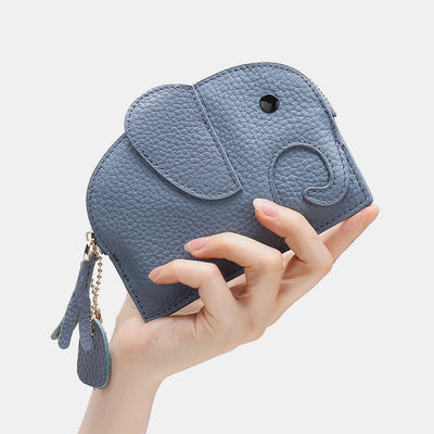 Cute Genuine Leather elephant coin bag Purse