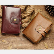 Vintage Large Capacity Genuine Leather Wallet