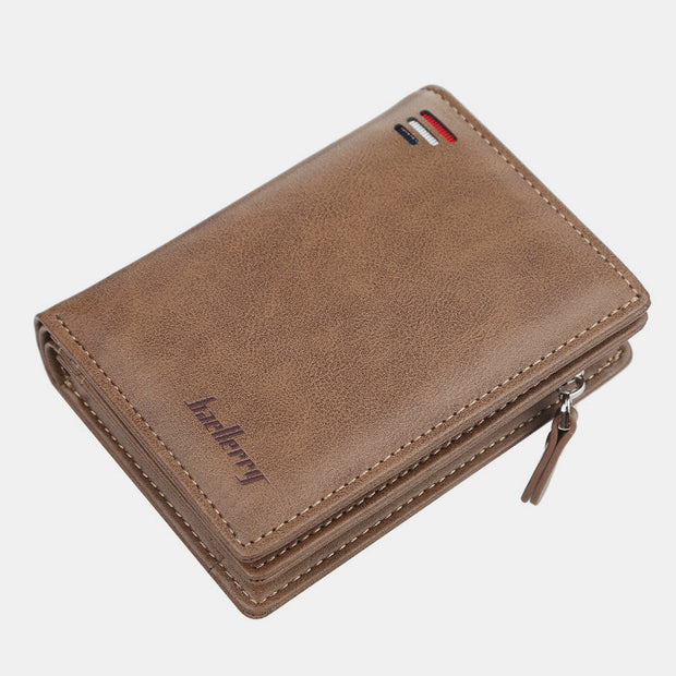 Vintage Large Capacity Short Wallet