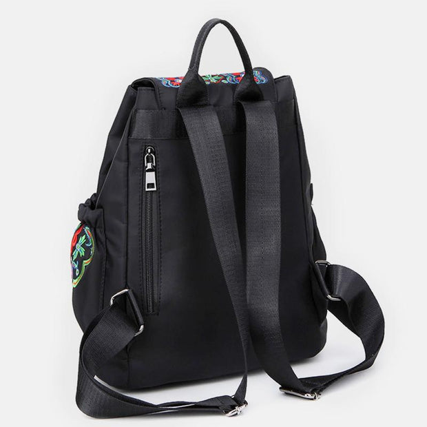 Waterproof Anti-theft Ethnic Embroidered Backpack