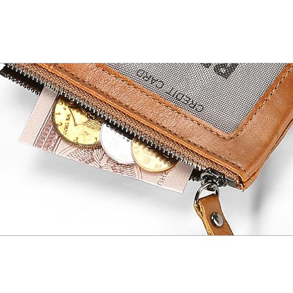 Casual Genuine Leather Double Zipper Wallet