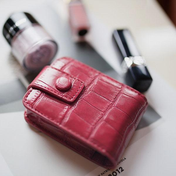 Lipstick Case with Mirror Cute Portable Makeup Bag