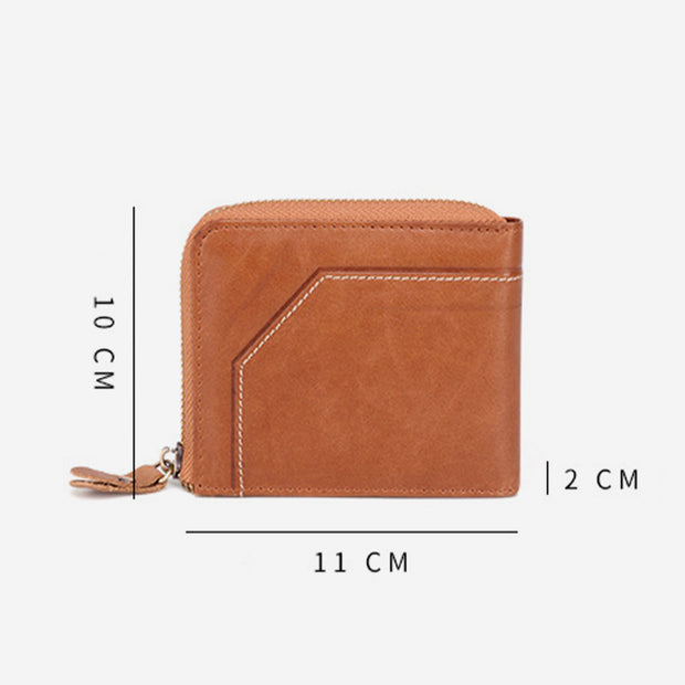 Vintage RFID Large Capacity Genuine Leather Wallet