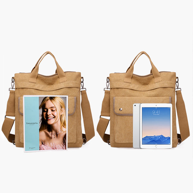 3-Way Use Large Capacity Canvas Backpack
