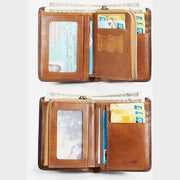RFID Anti-Theft Leather Retro Wallet