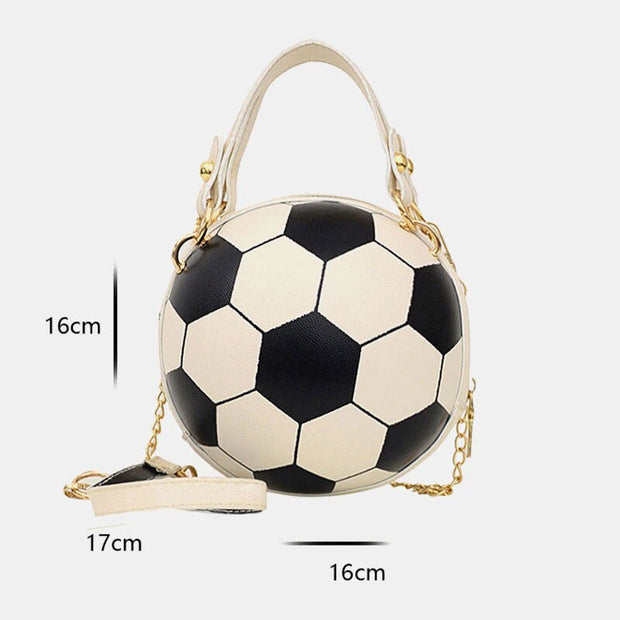 Unique Design Basketball Football Look Mini Round Bag