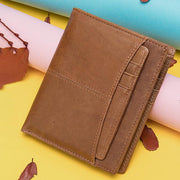 Vintage Multi-Card Pocket Genuine Leather Wallet
