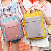 College Style Casual Macaron Backpack