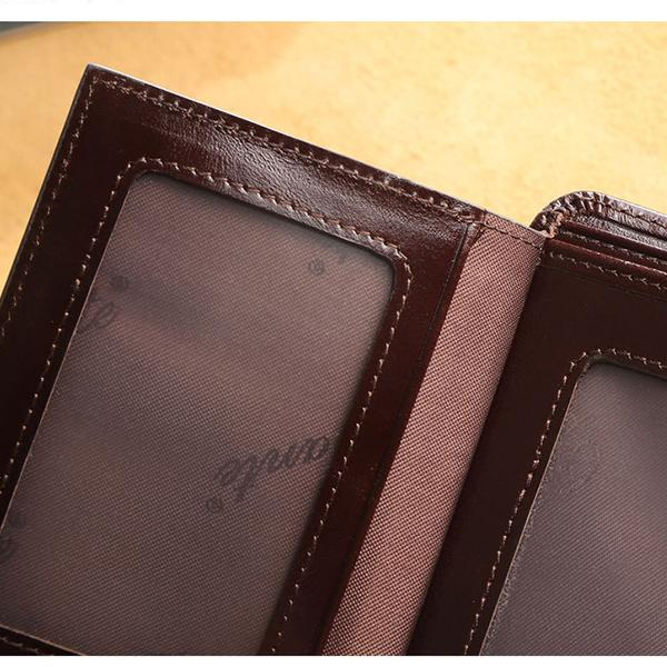 Genuine Leather RFID Anti-theft Vintage Wallet