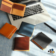 Large Capacity Multi-slot Bifold Real Leather Wallet