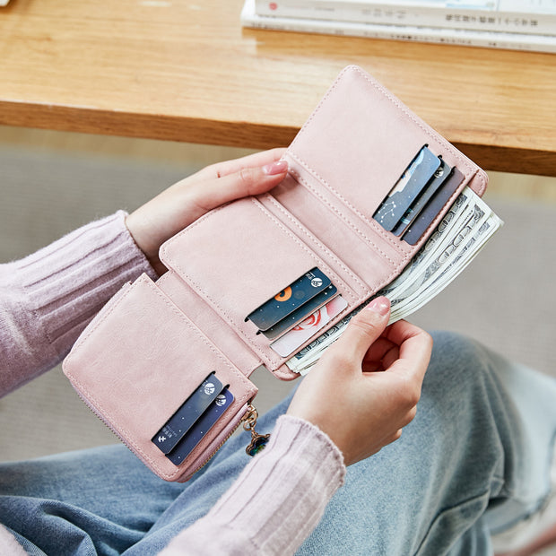 Large Capacity Trifold Mini Wallet