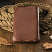 Real Leather Large Capacity Soft Vertical Wallet