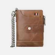 Retro Genuine Leather Multi-Slot Wallet