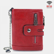 Vintage RFID Real Leather Multi-Position Purse