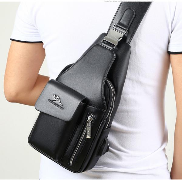 Multi-Compartment Wearing-Resisting Sling Bag