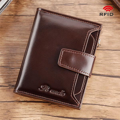 RFID Large Capacity Multi Card Leather Wallet