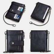 RFID Large Capacity Anti-theft Wallet With Chain