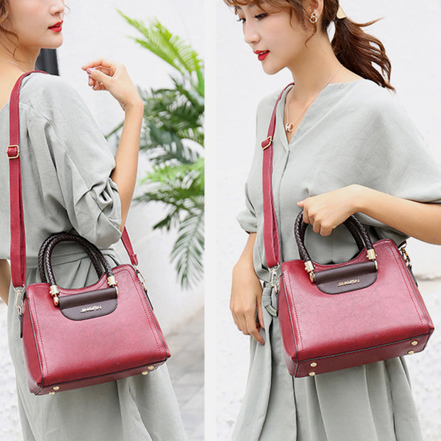 Retro Large Capacity Shoulder Bag Crossbody Bag