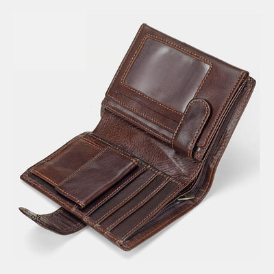 Multi-slot Trifold Genuine Leather Vintage Wallet(Buy 2 Get 15% Off,CODE:B2)