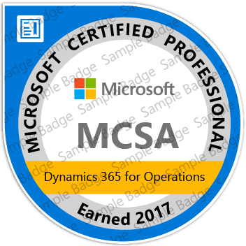 Microsoft MCSA: Microsoft Dynamics 365 for Operations - jrny-training