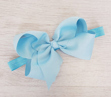 Load image into Gallery viewer, Baby blue hair bow