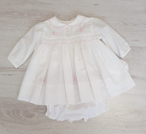 Sarah Louise fully lined smocked dress with matching pants