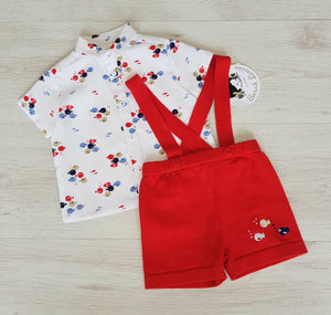 Sarah Louise shirt & short/brace set