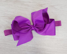 Load image into Gallery viewer, Purple hair bow