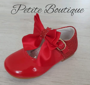 Spanish red leather shoes