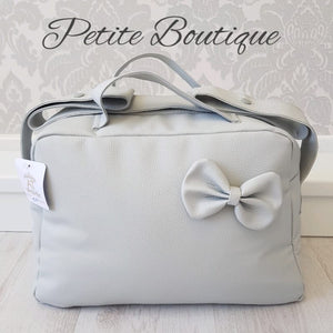 Spanish grey pram bag