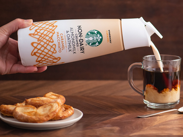 Starbucks Launching Vegan Caramel and Hazelnut Creamers