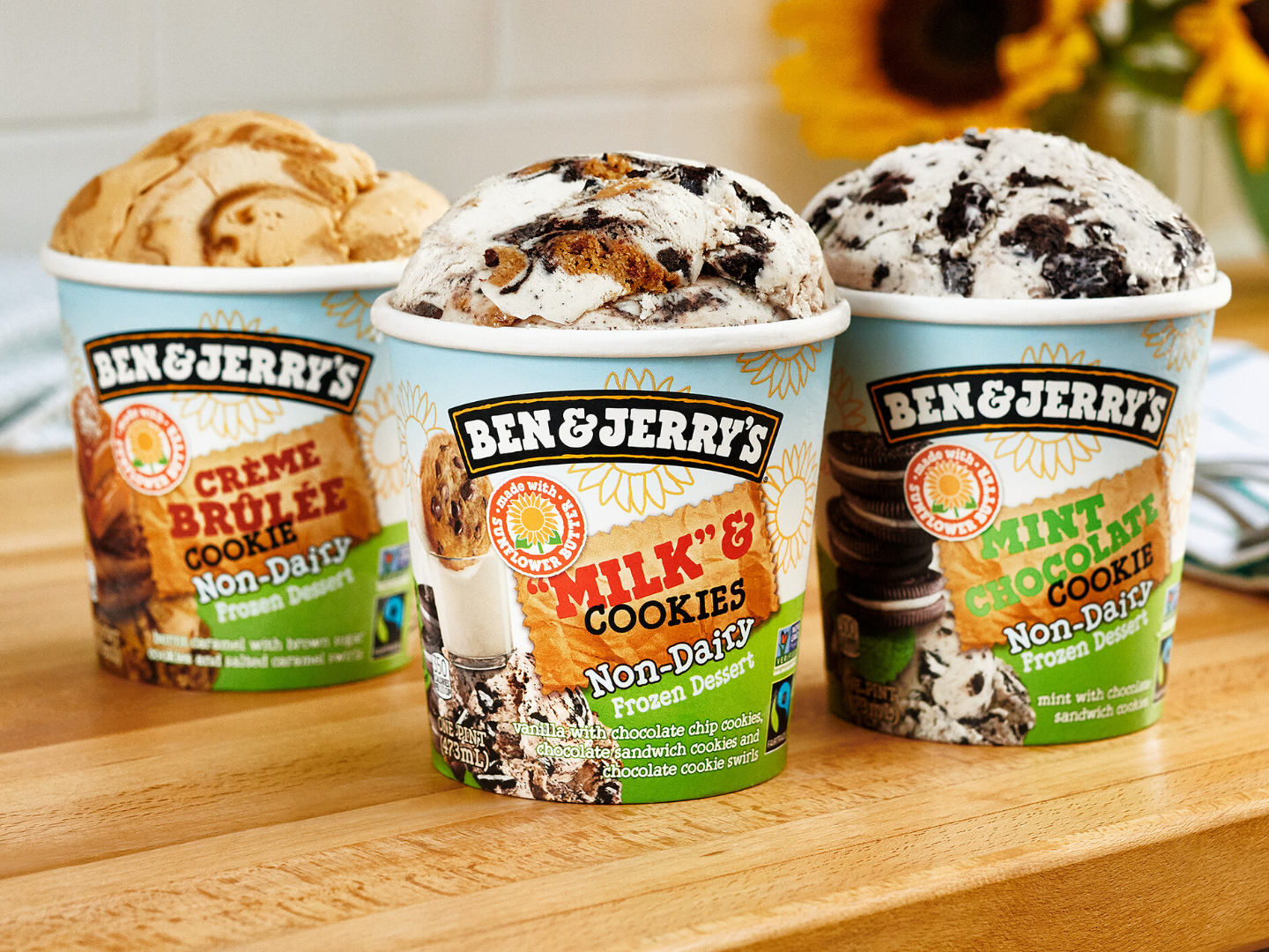 Ben & Jerry's Launches New Vegan Sunflower Butter-Based Flavors