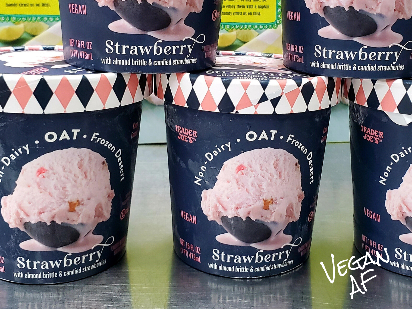 Trader Joe's Debuts Vegan Strawberry Oat Milk Ice Cream Pints