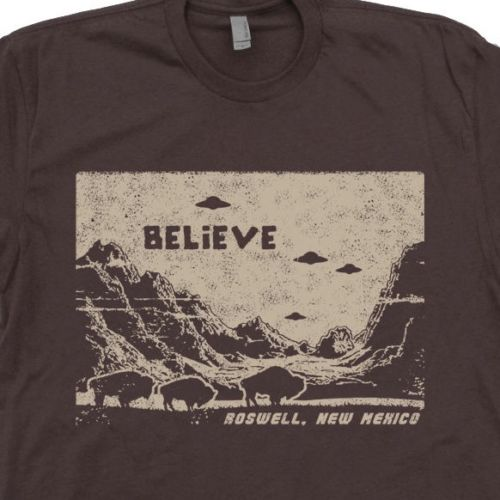 Believe UFOs and Buffalo Roswell, New Mexico T-Shirt