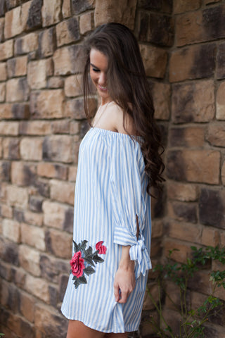 Will You Accept This Rose Off The Shoulder Dress