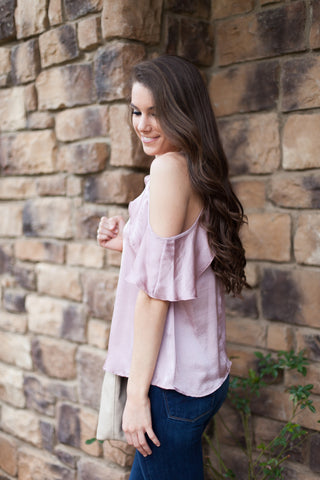 Dare to Bare Cold Shoulder Top