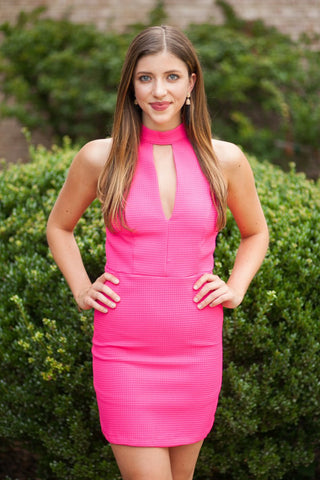 Feelin' The Heat Hot Pink Dress