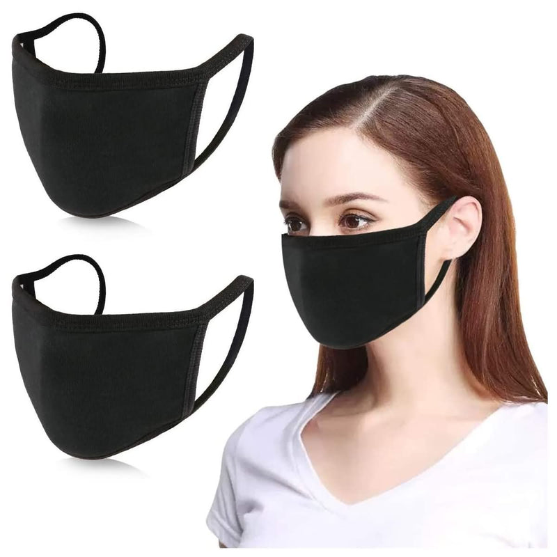 KISSBUTY 2 Pack Mouth Mask Teens and Womens Anti Dust Face Mask