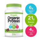Orgain Organic Plant Based Protein Powder Creamy Chocolate Fudge
