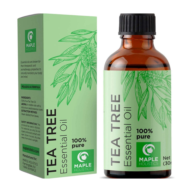 100% Pure Tea Tree Oil Natural Essential Oil with Antifungal Antibacterial Benefits
