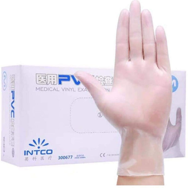 Disposable Vinyl Gloves White #color_White