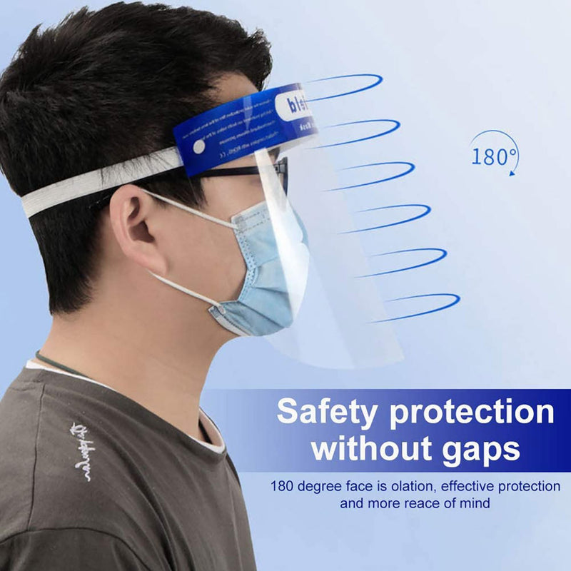 Wirezoll Safety Reusable Face Shield Transparent