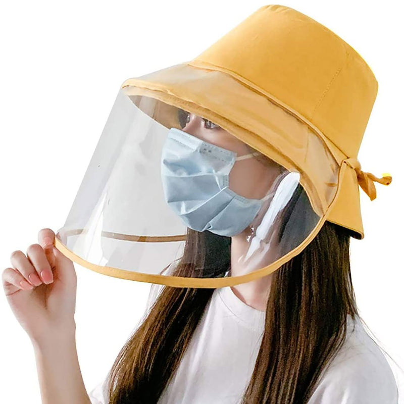 Barbella Full Face Shield Hat Yellow