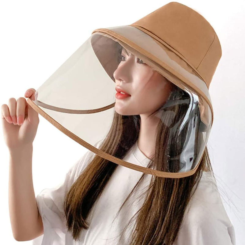 Barbella Full Face Shield Hat Khaki