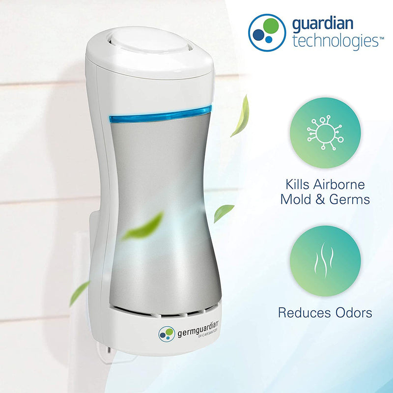 Germ Guardian Pluggable Air Purifier And Sanitizer White