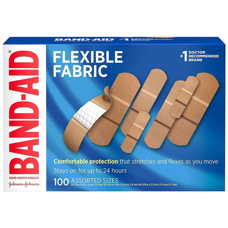Band-Aid Brand Flexible Fabric Adhesive Bandages for Wound