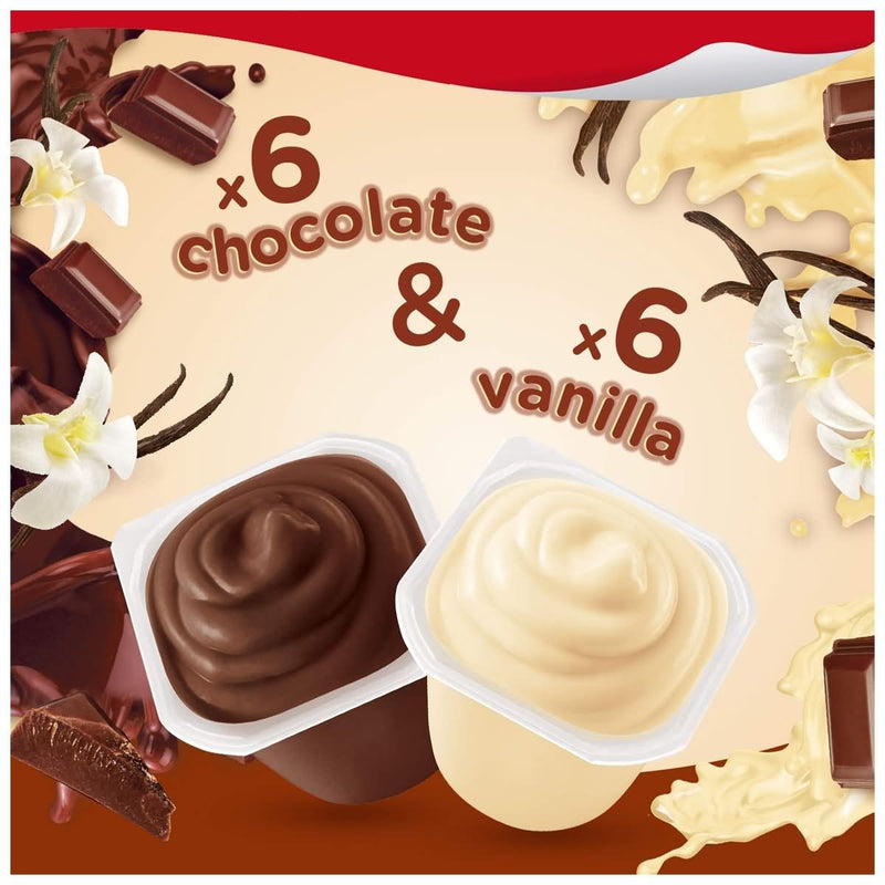 Snack Pack Chocolate and Vanilla Pudding Cups Family Pack