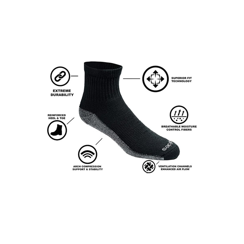Dickies Men's Dri-tech Moisture Control Quarter Socks